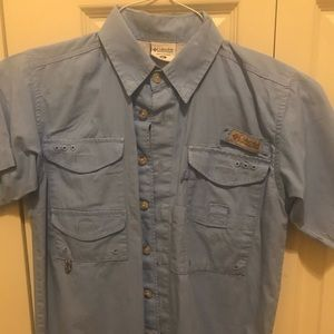 Columbia PFG Blue YM shirt